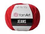 Пряжа YarnArt Jeans (Ярнарт Джинс) Цвет 90 красный