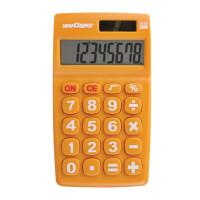 ЮНЛАНДИЯ  Калькулятор карманный ЮНЛАНДИЯ (135х77 мм) 8 разрядов, двойное питание, ОРАНЖЕВЫЙ, блистер, 250457