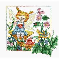 Жар-птица М-081 Набор для вышивания «Жар-птица» М-081 Лесной ангел 18*18