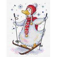 Жар-птица М-437_МПС Набор для вышивания «Жар-Птица» М-437 На лыжне