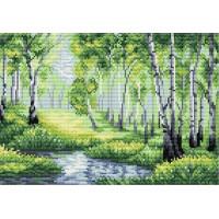 Жар-птица Набор для вышивания «Жар-птица» М-031 У лесного озера 18*26 Набор для вышивания «Жар-птица» М-031 У лесного озера 18*26