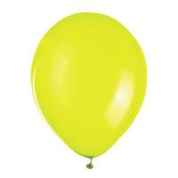 """ZIPPY 104185 Шары воздушные ZIPPY (ЗИППИ) 10"""" (25 см), комплект 50 шт., неоновые желтые, в пакете, 104185"""