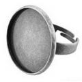 """Zlatka  Заготовка для кольца""""Zlatka"""" FMK-K02 23 мм, 2 шт. (под античное серебро)"""