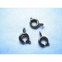 """Zlatka DR-01/3 Замок для бус кольцо """"Zlatka"""" цвет под черный никель, д, 6 мм., внутр. диаметр 4 мм, в уп, 50шт."""