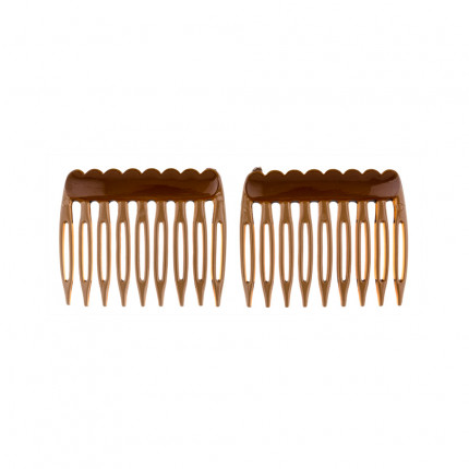 Гребень Zlatka HCJ-01  4.5 см 2 шт №03 коричневый (арт. HCJ-01)