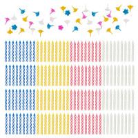 ЗОЛОТАЯ СКАЗКА 591448 Набор свечей для торта 154 шт., 5,7 см, 56 держателей, ЗОЛОТАЯ СКАЗКА, в блистере, 591448