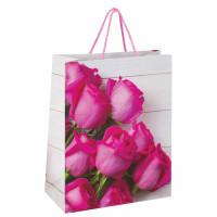 """ЗОЛОТАЯ СКАЗКА 606582 Пакет подарочный 26x12,7x32,4 см, ЗОЛОТАЯ СКАЗКА """"Розовые розы"""", ламинированный, 606582"""