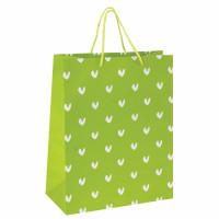 """ЗОЛОТАЯ СКАЗКА 606603 Пакет подарочный 26x12,7x32,4 см, ЗОЛОТАЯ СКАЗКА """"Зеленый в галочку"""", ламинированный, 606603"""