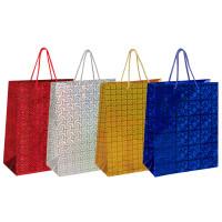 ЗОЛОТАЯ СКАЗКА 606607 Пакет подарочный 26x12,7x32,4 см, ЗОЛОТАЯ СКАЗКА голография, ассорти 4 цвета, 606607