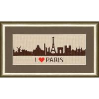 Золотое руно 006 Набор для вышивания «Золотое Руно» СГ-006 Я люблю Париж