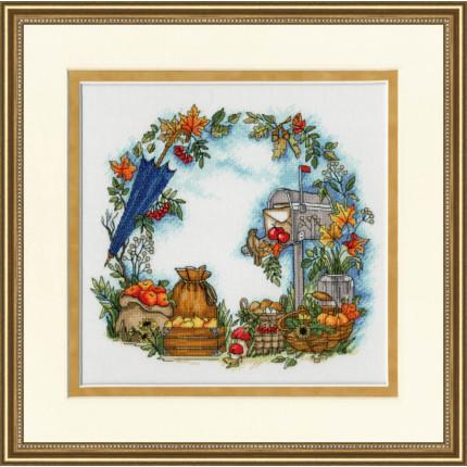 Набор для вышивания КП-005_ЗРНВ Набор для вышивания «Золотое Руно»КП-005 Осенние письма