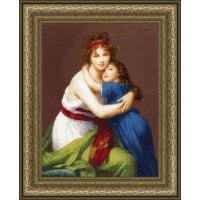 Золотое руно МК-046 Автопортрет с дочерью (По мотивам картины Э. Виже-Лебрен)