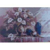 Золотой восход А14 Букет в вазе. Основа для вышивания бисером