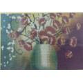 Золотой восход А3 Маки в вазе. Основа для вышивания бисером