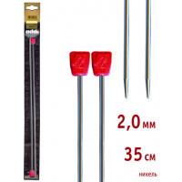 Addi 100-7/2-35 Спицы Addi прямые никелированные 35см 2.0мм, 2 шт