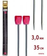 Addi 100-7/3-35              Спицы Addi прямые никелированные 35см 3.0мм 2 шт.