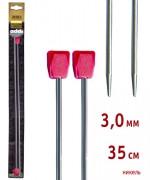 Спицы Addi прямые никелированные 35см 3.0мм 2 шт