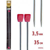 Addi 100-7/3.5-35 Спицы Addi прямые никелированные 35см 3.5мм, 2 шт