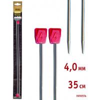 Addi 100-7/4-35 Спицы Addi прямые никелированные 35см 4.0мм, 2 шт