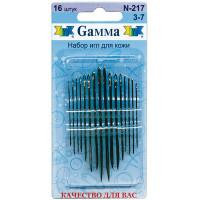 Гамма N-217 Иглы ручные для кожи №3-7, 16 шт