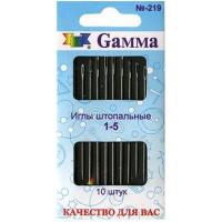 Гамма N-219 Иглы ручные для штопки №1-5, 10 шт