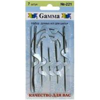 Гамма N-221 Иглы ручные для шитья, 7 шт