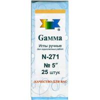 """Гамма N-271 Иглы ручные для переплетных работ 5"""", 25 шт"""