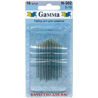 Гамма N-302 Иглы для наметки №5-10, 16 шт