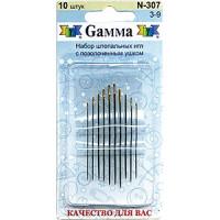Гамма N-307 Иглы ручные для штопки №3-9, 10 шт