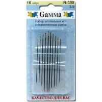 Гамма N-308 Иглы ручные для штопки №3-9, 10 шт