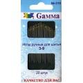 Гамма N-310                  Иглы ручные для шитья №3-9, 20 шт