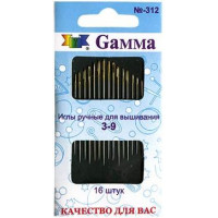 Гамма N-312 Иглы для вышивания №3-9, 16 шт