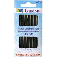 Гамма N-314 Иглы ручные для штопки № 3/0-1/0, 6 шт