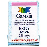 Гамма N-357 Иглы ручные гобеленовые №24, 25 шт