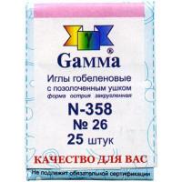 Гамма N-358 Иглы гобеленовые №26, 25 шт