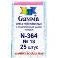 Гамма N-364 Иглы гобеленовые №18, 25 шт