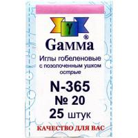 Гамма N-365 Иглы ручные гобеленовые №20, 25 шт