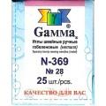 Гамма N-369 Иглы ручные гобеленовые №28, 25 шт