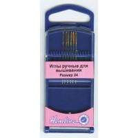 Hemline 283G.24 Иглы ручные для вышивания гобеленов №24, 6 шт
