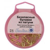 Hemline 419.000 Булавки безопасные в пластиковом круглом контейнере (латунь)