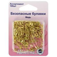 Hemline 419.99.100 Булавки безопасные, цвет золотистый