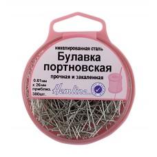 Булавки-гвоздики портновские в пластиковом круглом боксе (арт. 719)