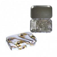 Hemline PT.410.0 Булавки безопасные в жестяной коробочке