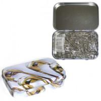 Hemline PT.410.99 Булавки безопасные в жестяной коробочке (ассорти)