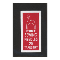 """Pony 05158 Иглы ручные для гобеленовых и трикотажных тканей """"Золотое ушко"""" №20, 25 шт"""
