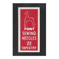 """Pony 05160 Иглы ручные для гобеленовых и трикотажных тканей """"Золотое ушко""""№22, 25 шт"""