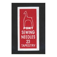 """Pony 05161 Иглы ручные для гобеленовых и трикотажных тканей """"Золотое ушко""""№23, 25 шт"""
