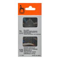 Pony 11301 Иглы для синтетических тканей №5/10, 10 шт