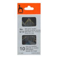 Pony 11351 Иглы для синтетических тканей №5/10, 10 шт