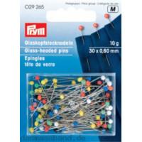 Prym 029265 Булавки со стеклянной головкой (разноцветные), сталь